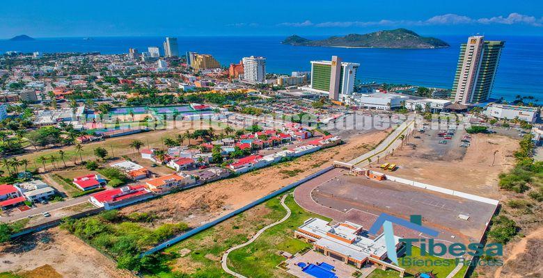 Land for sale in Mazatlan in front of Hotel el Moro Cid