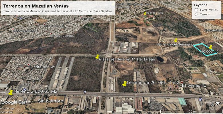 Terrenos Comerciales en Mazatlan, Cerca de Plaza  Aca